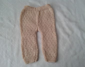 Hand knitted baby trousers