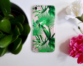 Leaf plant botanical soft protective iphone 7 case cover silicone / quality print phone case iphone cover succulent leaf bananleaf
