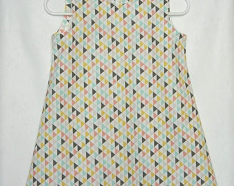 Dress 2 years triangles pattern.