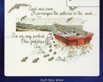 Each New Wave Designs For The Needle Counted Cross Stitch Kit
