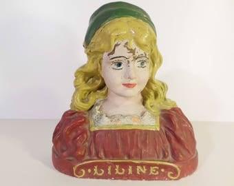 Polychrome plaster - Polychrome plaster bust bust