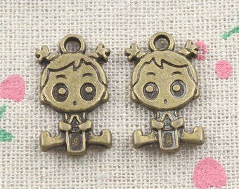 Package includes 8 baby 14 * 23mm pendant charms