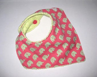 Bandana bib in Raspberry red cotton, girl birthday gift