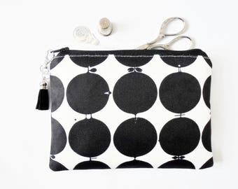 Mum gifts, Travel Pouch, swedish, dotty print,  Vintage Inspired, small zipper bag, travel bag, wallet pouch.