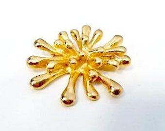 "Vintage CHRISTIAN LACROIX large vintage jewelled gold toned brooch ""Anemone de mer"" (sea anemone)."