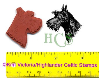 Scottish Terrier - Scottie - head Unmounted Rubber Stamp