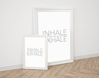 Wall Art Prints - Inhale Exhale