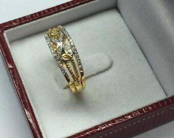 Infinity ring with Diamond,46 Diamonds,0.27 Carat