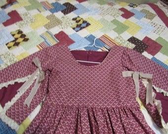 Girls Party Dress Civil War Reenactment, Victorian, Living History