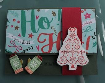 Christmas gift card envelope