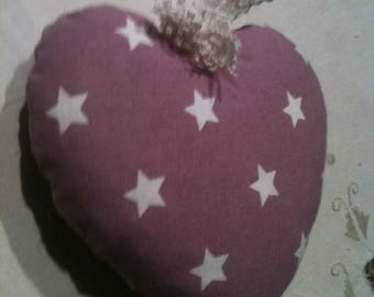 HEART pattern stars to hang with attached