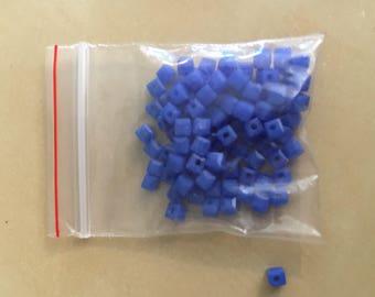 Blue Square beads