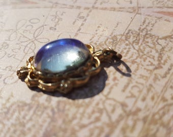 Vintage 1960's Gold Plated Pendant with Purple Stone