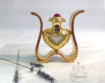 Gold Heart ATTAR Oil Oud PERFUME Cologne Bottle 12ML Gift Wholesale Exotic Arabian Love Anniversary Romantic Potion Wedding Antique