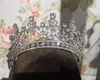 Crystal royal crown