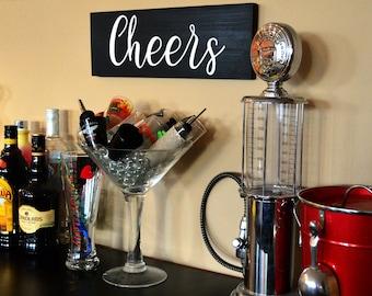 Cheers wood Sign - bar sign - wall decor