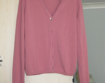 Zanone dark pink cotton cardigan (new with price tag)