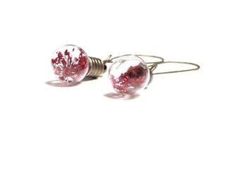 """Earrings """"Red flowering bulbs"""""""