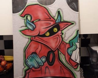 Orko he-man m.o.t.u  airbrushed vest medium