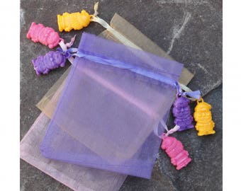 3 pockets gift Christmas holiday purple yellow pink