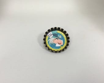 Mad Hatter Bottle cap Pin