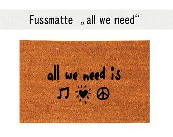 ALL WE NEED coconut mats carpet door mat 40 x 60 cm