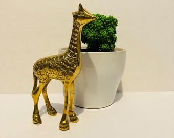 Vintage Brass Giraffe Collectible Figurine