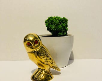Vintage Brass Owl Collectible Figurine