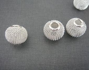 NET beads grey set of five