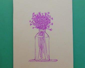 Wildflowers - Drawing, Flowers