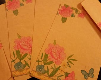 Vintage Stationery Collection ~ 1982 Henco Dynasty Flower and Butterfly Stationery Collection