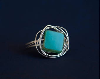 Handcrafted, customizable wire & stone ring