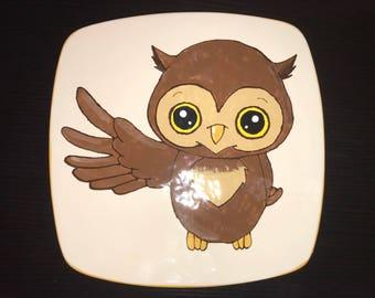 Fun owl sushi plate