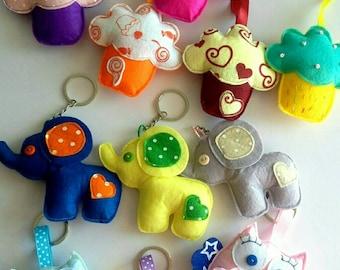 Felt colorful soft keychain