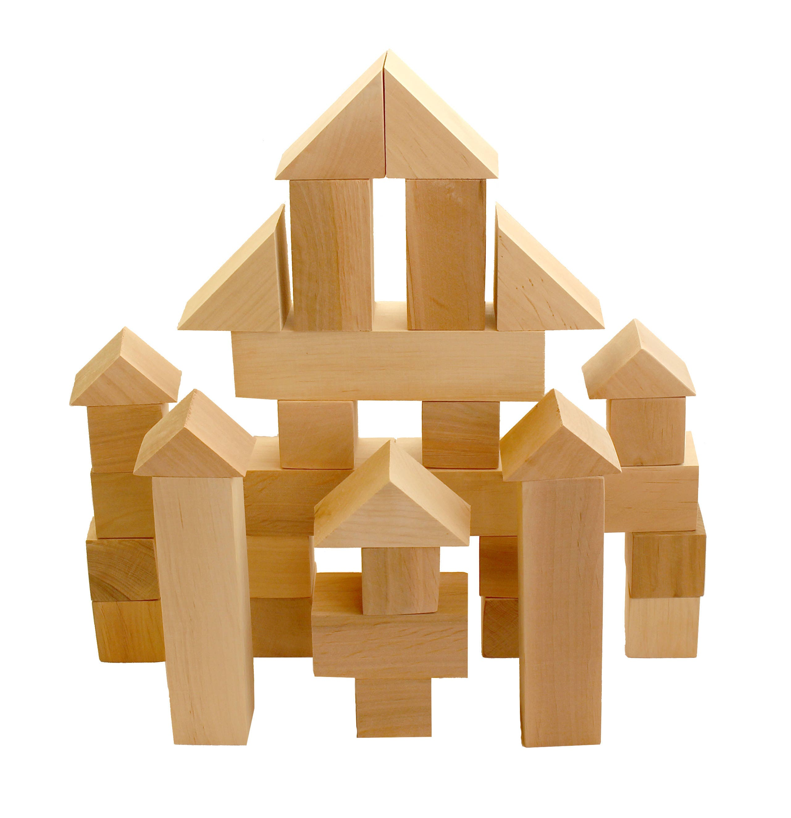 Handmade wooden blocks 35 Piece Blocks Set eco friendly