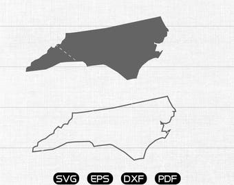 North Carolina SVG, State SVG Vector, NC Clipart, cricut, silhouette cut files commercial use