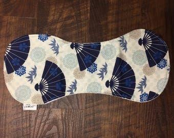 Japanese Fan Baby Burp Cloth, baby shower gift, newborn