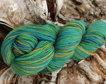 Chugach Forest - Part of the Alaskan Color way, hand painted yarns inspired by the magic of Alaska