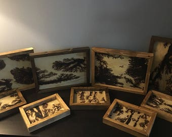 Custom Framed Lichtenberg Figures