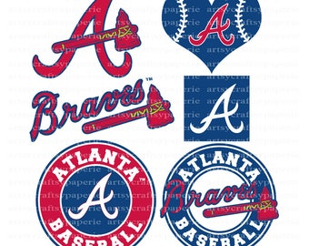 INSTANT DOWNLOAD - Atlanta Braves Svg Files, Svg Files for Cricut, Svg Christmas, Svg Files for Silhouette, Svg Bundle, Svg Designs
