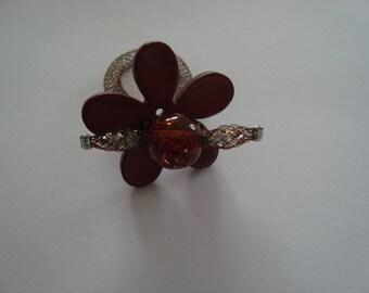 Original Brown flower shaped ring