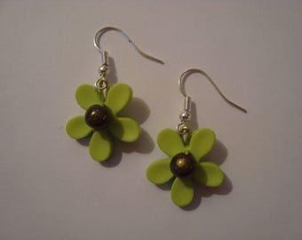 Pair of green flower