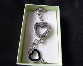 Diamnate Heart Locket Bracelet