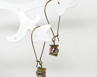 ceramic beads with wire earrings