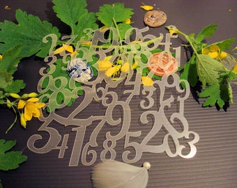 Stencil numbers P0165 for your pages, cards, your walls