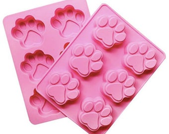 Pack Puppy Dog Paw Mold, Silicone Mold, dog paw mold, Dog mold, Cute Silicone mold