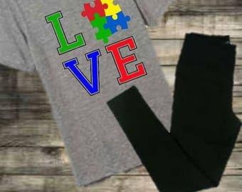 Adult autism awareness shirt