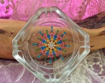 Glass Mandala Ashtray