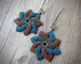 Macrame earrings, handcrafted earrings