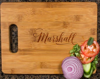 Personalized cutting board, Wedding Gift, Kitchen Decor, Housewarming Gift, Family Name Engraved Cutting Board, Anniversary Gift